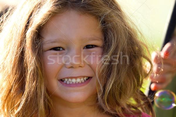 Belo crianças parque retrato primavera Foto stock © nenetus