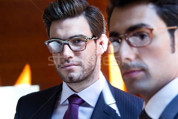 ストックフォト: ビジネスマン · 現代 · オフィス · 肖像 · 2 · 小さな