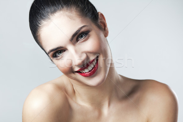 Schönen Gesicht Frau sauber frischen Stock foto © nenetus