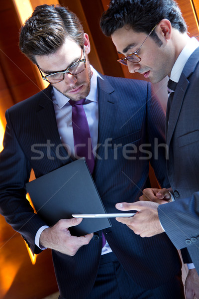 Businessmen With Digital Tablet  In Modern Office Stock photo © nenetus