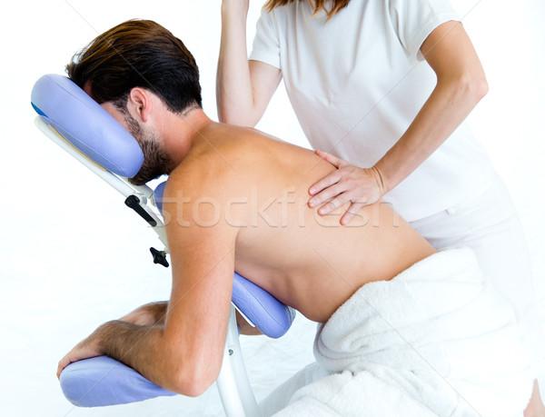 массажист массаж человека тело Spa салона Сток-фото © nenetus