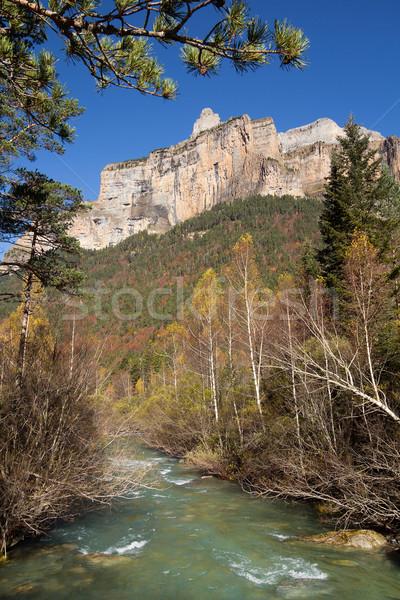 Autumn river in Ordesa National Park, Pyrenees, Huesca, Aragon,  Stock photo © nenetus