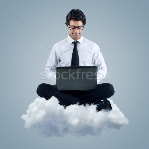 Businessman using cloud computing technology Stock photo © nenetus