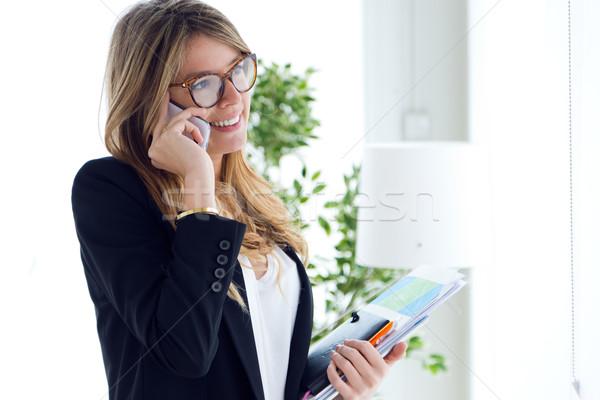 Business Handy Büro Porträt Telefon Stock foto © nenetus