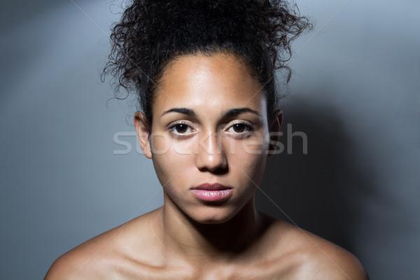 Portrait of a serious black woman Stock photo © nenetus