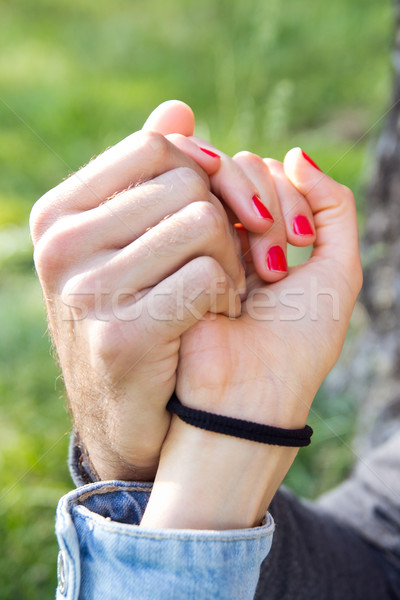 hands of a couple held together Stock photo © nenetus