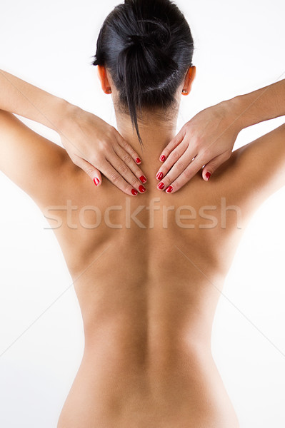 Young Woman With Pain In Her Back Stock photo © nenetus
