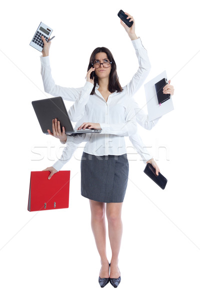 stressed businesswoman at work Stock photo © nenetus