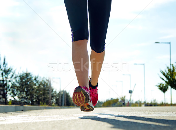 Läufer Fuß läuft Straße Schuh Stock foto © nenetus