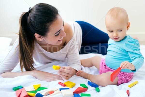 Madre giocare home piccolo figlia Foto d'archivio © nenetus