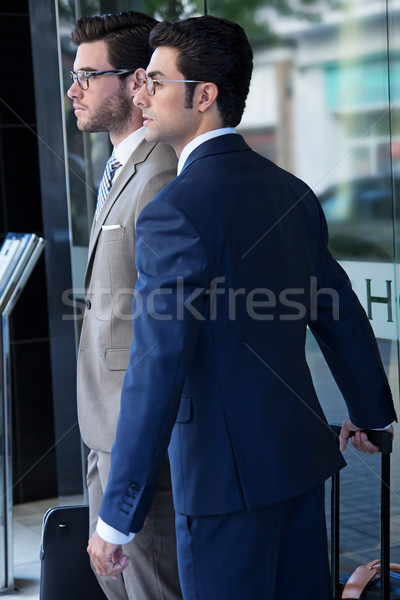 two young executives arriving at the hotel Stock photo © nenetus