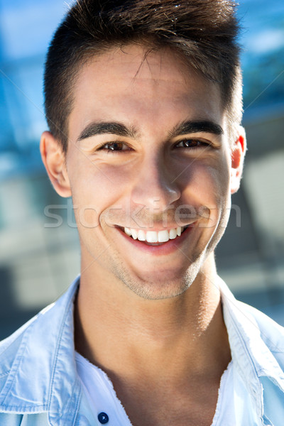 Outdoor portrait of young man Stock photo © nenetus