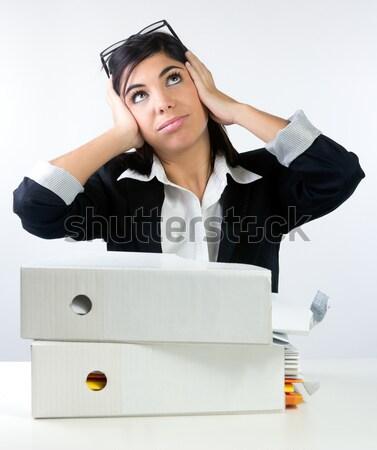 Overwhelmed Office Worker Stock photo © nenetus