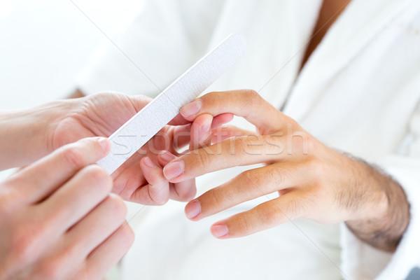 Homem manicure salão beleza retrato mão Foto stock © nenetus