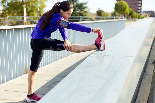 Mulher jovem corrida ao ar livre retrato menina Foto stock © nenetus