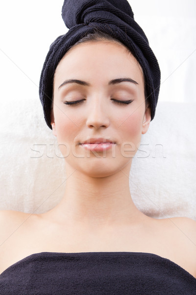 Woman relaxing at beauty spa Stock photo © nenetus