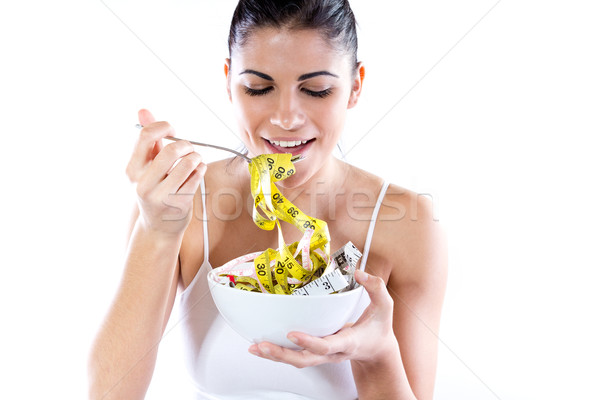 Young woman doing slimming diet. Conceptual image about diet Stock photo © nenetus