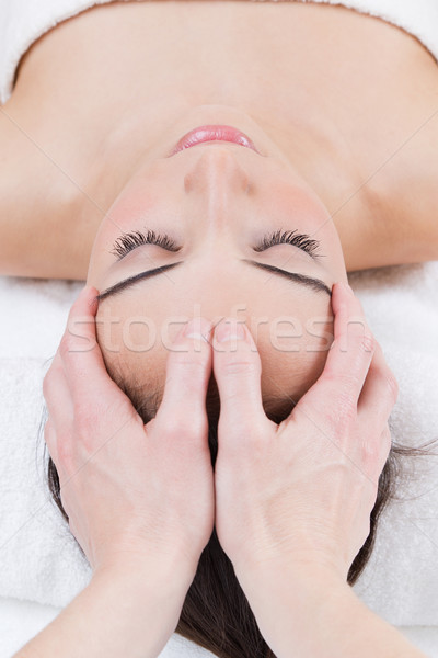 Woman enjoying massage at beauty spa Stock photo © nenetus