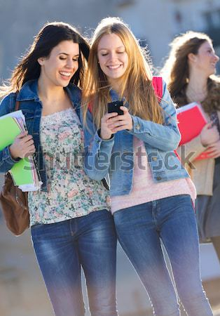 A group of students having fun after school Stock photo © nenetus