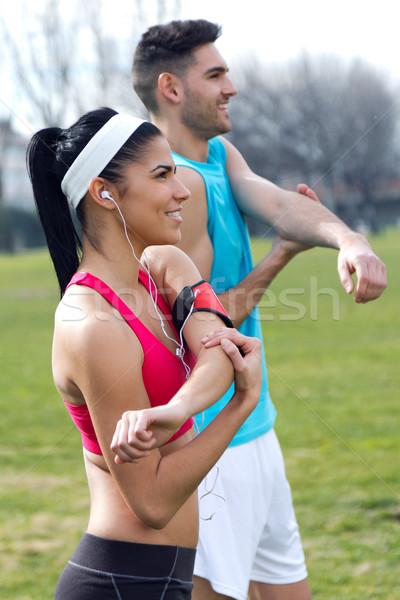 Urban scene man sport lichaam Stockfoto © nenetus