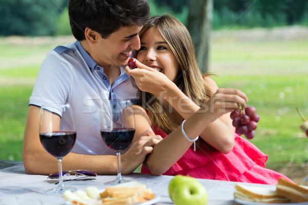 食べ ブドウ ロマンチックな ピクニック ストックフォト © nenetus
