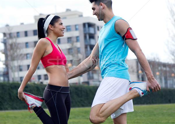 Cena urbana corpo casal exercer Foto stock © nenetus