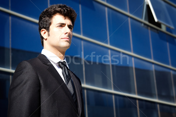Young executiva man looking at the horizon Stock photo © nenetus
