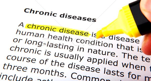 Stock photo: Chronic diseases