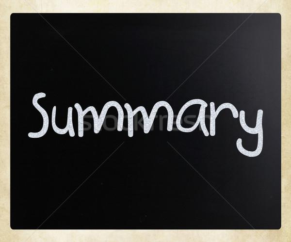 要約 白 チョーク 黒板 ヴィンテージ ストックフォト © nenovbrothers