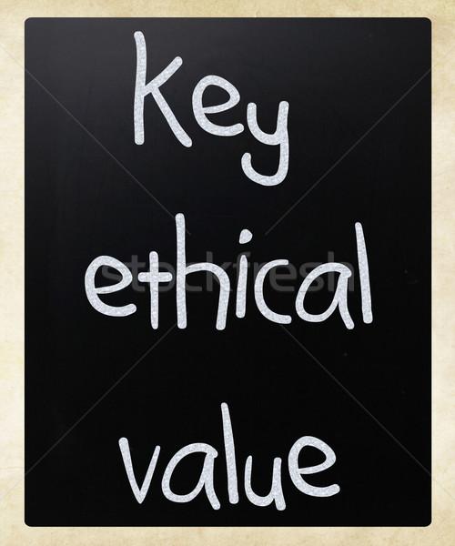 Anahtar etik değer beyaz tebeşir Stok fotoğraf © nenovbrothers
