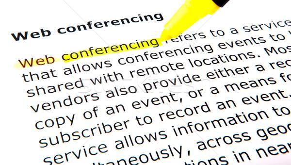 Web conferencing Stock photo © nenovbrothers