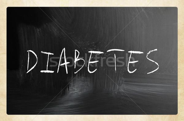 Diabete manoscritto bianco gesso lavagna medici Foto d'archivio © nenovbrothers