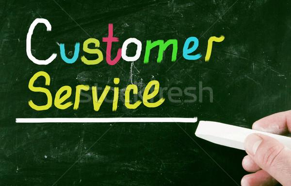 Klantenservice dienst markt pijl ondersteuning klant Stockfoto © nenovbrothers