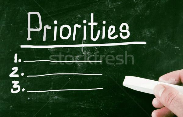 Działalności tle edukacji pokładzie pisać plan Zdjęcia stock © nenovbrothers