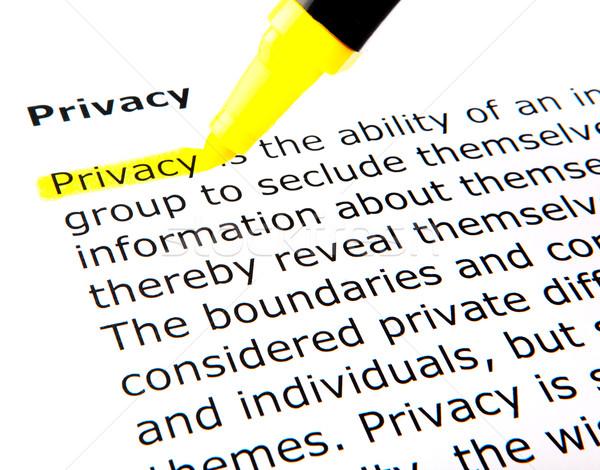 Privacy Stock photo © nenovbrothers