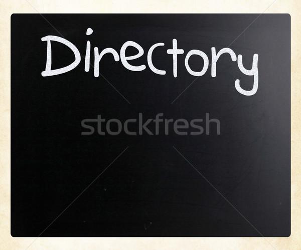 'Directory' handwritten with white chalk on a blackboard Stock photo © nenovbrothers