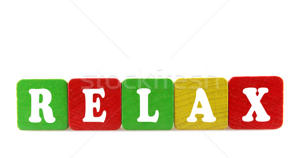 relax - isolated text in wooden building blocks Stock photo © nenovbrothers