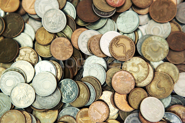 Huge Pile Of The Bulgarian Coins Stock photo © nenovbrothers