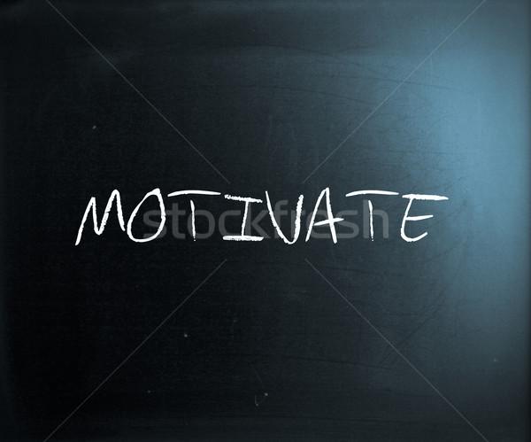 Motiveren witte krijt Blackboard succes Stockfoto © nenovbrothers