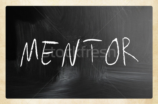'Mentor' handwritten with white chalk on a blackboard Stock photo © nenovbrothers