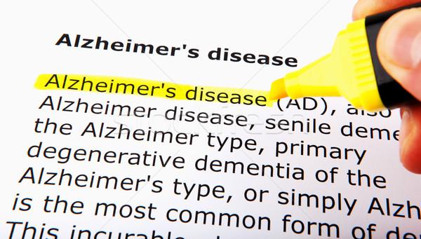 Alzheimer-kór nők orvosi segítség női fehér Stock fotó © nenovbrothers