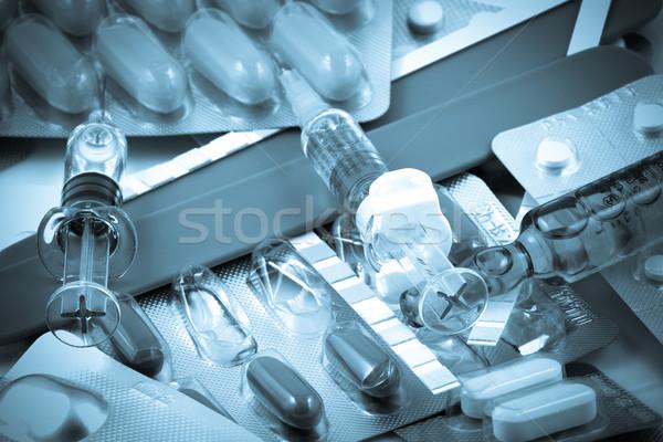 Hapları laboratuvar ilaçlar kimyasal hap sağlık Stok fotoğraf © nenovbrothers