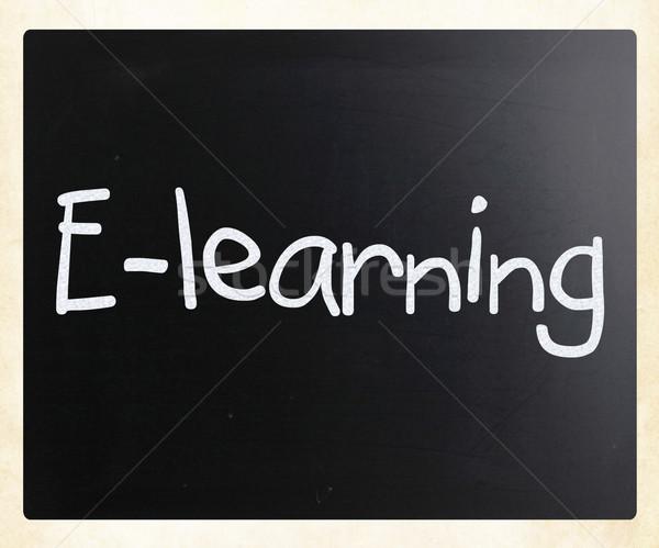 Online oktatás papír könyv technológia hálózat tanulás Stock fotó © nenovbrothers