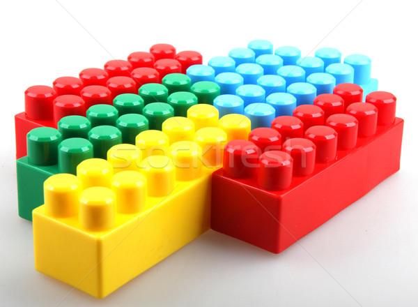 Couleur puéril blocs bâtiment enfants école Photo stock © nenovbrothers