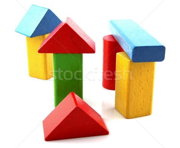 Legno blocchi costruzione bambino design sfondo Foto d'archivio © nenovbrothers