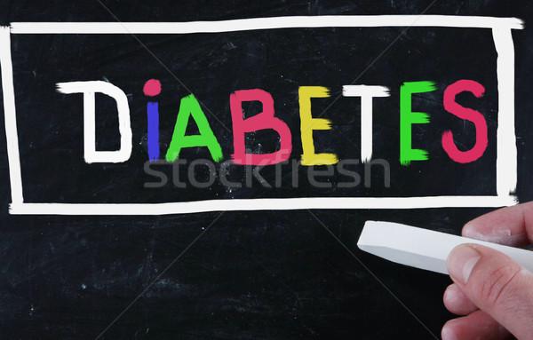Suikerziekte bloed geneeskunde vet dieet concept Stockfoto © nenovbrothers