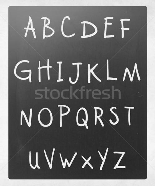 Foto stock: Inglés · alfabeto · blanco · tiza