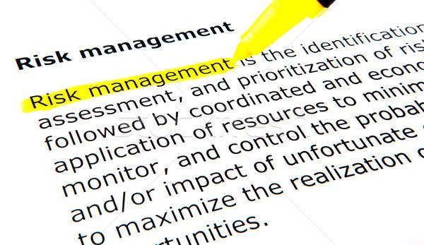 Risk management Stock photo © nenovbrothers