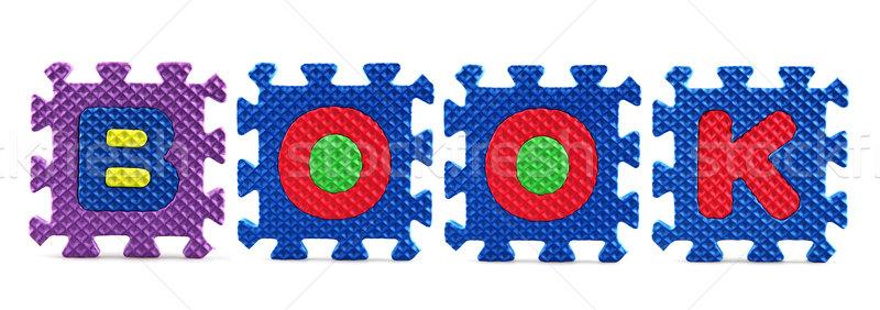 Alphabet puzzle pieces on white background Stock photo © nenovbrothers