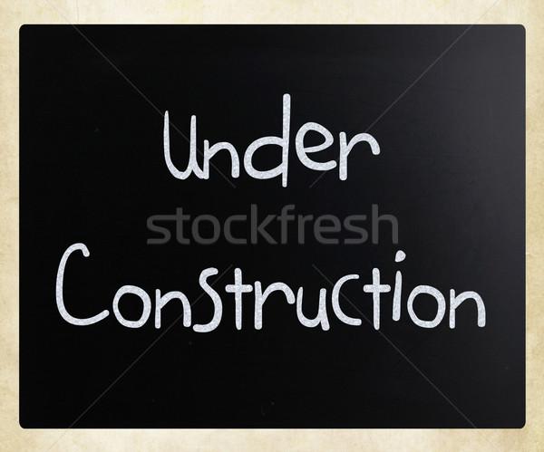 строительство белый мелом доске черный Сток-фото © nenovbrothers